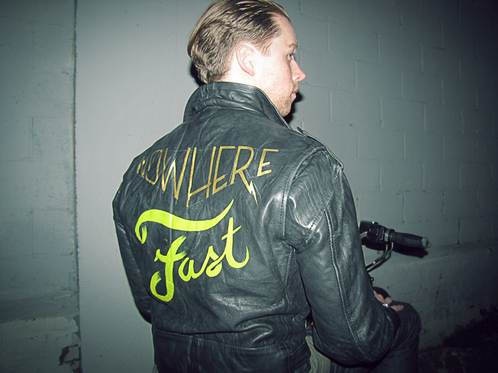 hand-painted, jacket, motorcycle, paint, one, shot, devyn, haas, devyn haas